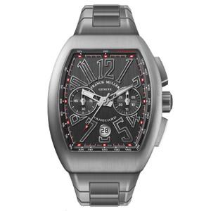 New Franck Muller Vanguard Chronograph Black Dial on Bracelet