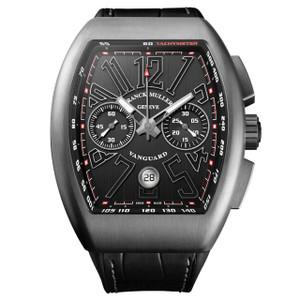 New Franck Muller Vanguard Chronograph Black Dial on Strap