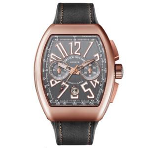 New Franck Muller Vanguard Chronograph Gray Dial Rose Gold