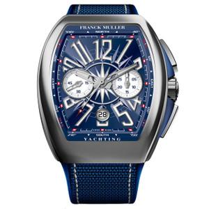 New Franck Muller Vanguard Yachting Chronograph Blue Dial