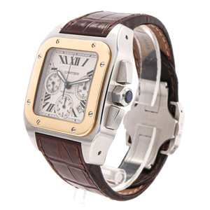 Cartier Santos 100 Chronograph Two Tone