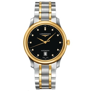 New Longines Master Collection Black Dial Yellow Gold