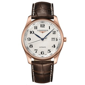New Longines Master Collection Silver Dial Yellow Gold on Strap