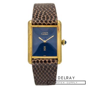 Cartier Le Must Tank Blue Stone Dial