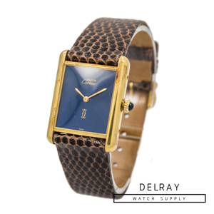 Cartier Le Must Tank Blue Stone Dial *ON SPECIAL*