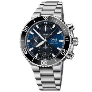 New Oris Aquis Chronograph Blue Dial