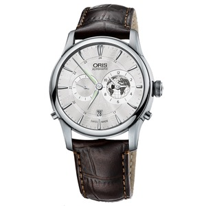 New Oris Greenwich Mean Time Silver Dial