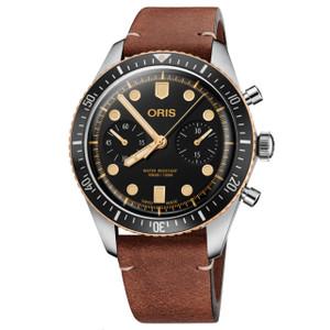 New Oris Divers Sixty-Five Chronograph Black Dial