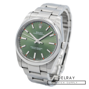 Rolex Oyster Perpetual Green Dial 114200