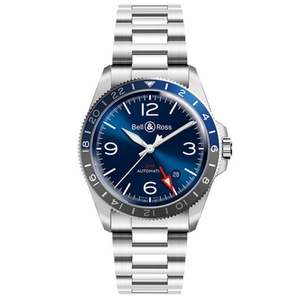 New Bell & Ross BR V2-93 GMT Blue Dial on Bracelet