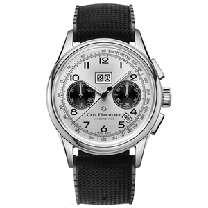 New Carl F. Bucherer Heritage Bicompax Annual Silver Dial on Rubber Strap
