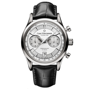New Carl F. Bucherer Manero Flyback Silver Dial on Strap