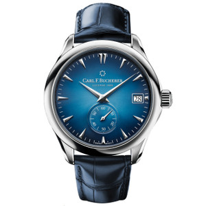 New Carl F. Bucherer Manero Peripheral 41 Blue Dial on Strap
