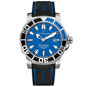 New Carl F. Bucherer Patravi ScubaTec Blue Dial on Strap