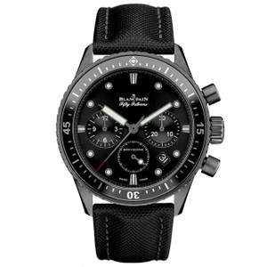 New Blancpain Fifty Fathoms Bathyscaphe Chronographe Flyback Black Dial
