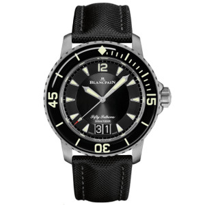 New Blancpain Fifty Fathoms Grande Date Black Dial