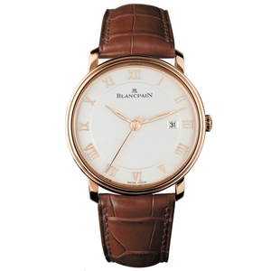 New Blancpain Villeret White Dial Rose Gold