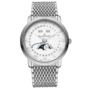 New Blancpain Villeret Complete Calendar Moonphase White Dial on Bracelet