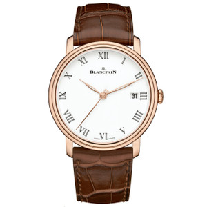 New Blancpain Villeret 8 Days White Dial Rose Gold