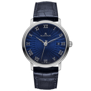 New Blancpain Villeret Ultra Slim Blue Dial White Gold