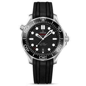 New Omega Seamaster Diver 300M Master Chronometer 42 Black Dial on Strap