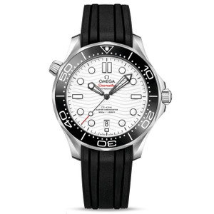 New Omega Seamaster Diver 300M Master Chronometer 42 White Dial on Strap