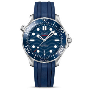 New Omega Seamaster Diver 300M Master Chronometer 42 Blue Dial on Strap