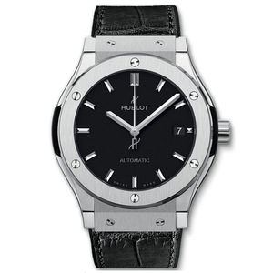 New Hublot Classic Fusion 42 Black Dial Titanium on Strap