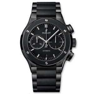 New Hublot Classic Fusion Chronograph 45 Black Dial Ceramic on Bracelet