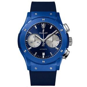 New Hublot Classic Fusion Chronograph Chelsea 45 Blue Sunray Dial Ceramic *Limited Edition*