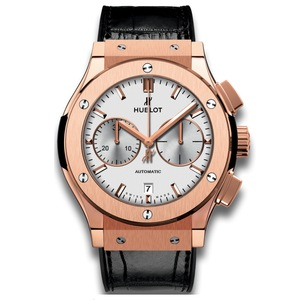 New Hublot Classic Fusion Chronograph 45 Silver Dial Rose Gold
