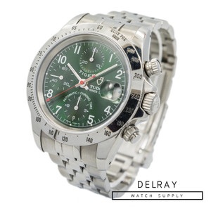 Tudor Tiger Prince Chronograph 79280P Green Dial *Rare*