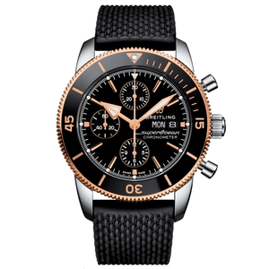 New Breitling Superocean Heritage II Chronograph 44 Rose Gold Bezel