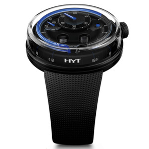 New HYT H0 Black Dial Blue Accents