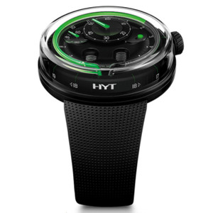New HYT H0 Black Dial Green Accents