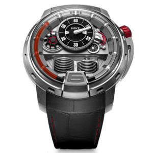 New HYT H1 Silver Dial Red Accents