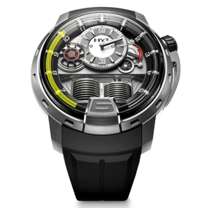 New HYT H1 Silver Dial Yellow Accents