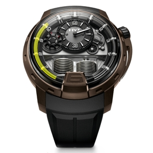New HYT H1 Black Dial Yellow Accents