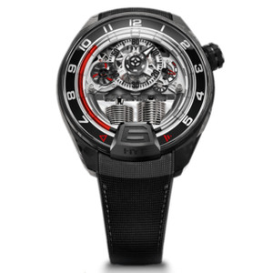 New HYT H4 Skeleton Dial Red Accents