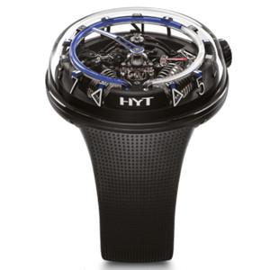 New HYT H20 Black Skeleton Dial Blue Accents Steel