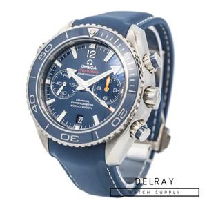 Omega Seamaster Planet Ocean Chronograph Titanium Blue Dial