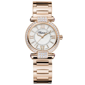 New Chopard Imperiale Mother of Pearl Dial Rose Gold Diamond Bezel