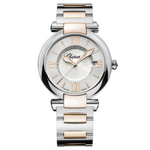 New Chopard Imperiale 36 Silver Dial on Bracelet Gold Accents