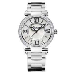 New Chopard Imperiale 36 Silver Dial on Bracelet Diamond Bezel