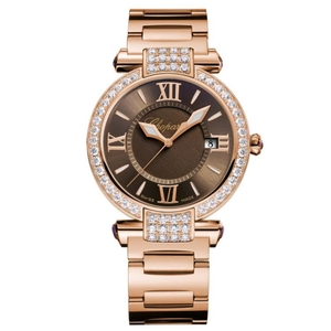 New Chopard Imperiale Quartz 36 Brown Dial on Bracelet Rose Gold