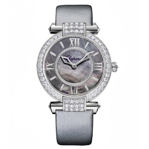 New Chopard Imperiale 36 Black Dial on Strap White Gold