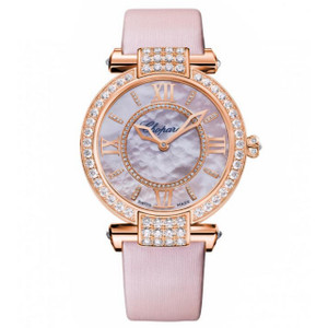 New Chopard Imperiale 36 Pink Dial on Strap Rose Gold
