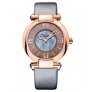 New Chopard Imperiale 36 Grey Dial on Strap Rose Gold