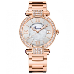 New Chopard Imperiale 36 Silver Dial on Bracelet Rose Gold