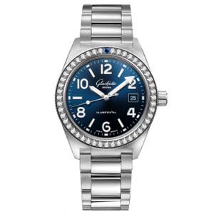 New Glashütte Original Seaq Blue Dial on Bracelet Diamond Bezel